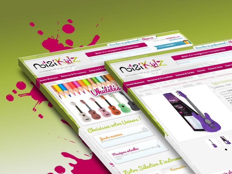 ux design noizikidz - 3 Petits Clics - Agence Web Lyon